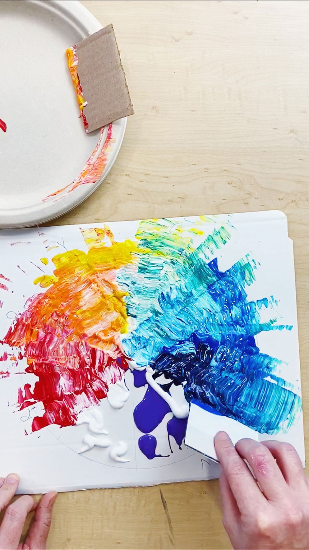 Color Wheel Paint and Play Picture